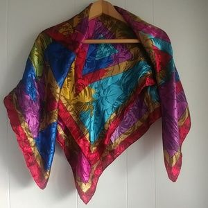 Multicolor Geo Abstract Print Scarf